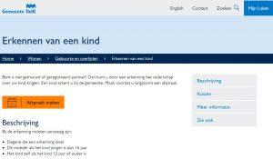 Aangifte bij de gemeente Delft